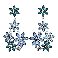Lipsy - Crystal flower drop earrings