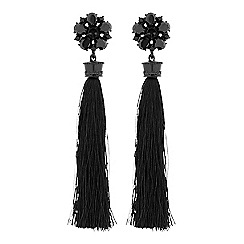 Lipsy - Flower tassel drop earrings
