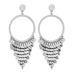 Lipsy - Silver sequin fringed statement earrings