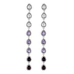 Lipsy - Purple ombre crystal drop earrings