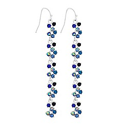 Lipsy - Blue crystal linear drop earrings