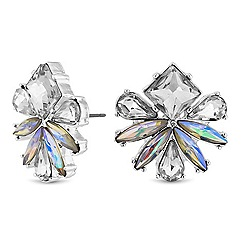Lipsy - Silver crystal floral stud earrings