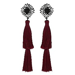 Lipsy - Red double tassel drop earrings