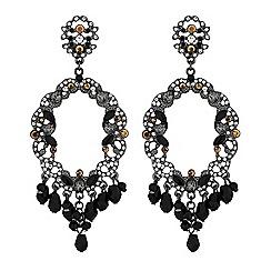 Lipsy - Black baroque crystal statement earrings