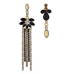 Lipsy - Gold baroque crystal mismatched earring set