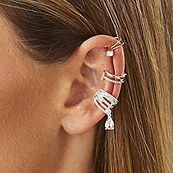Lipsy - Multi tone crystal ear cuff set