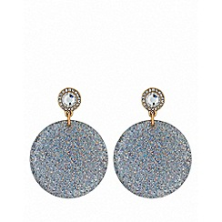Lipsy - Gold plated white glitter resin clear drop earrings