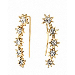 Lipsy - Gold plated clear star stud earrings