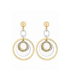 Lipsy - Mixed plate multi-coloured disc link drop earrings