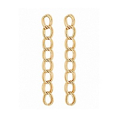 Lipsy - Gold plated gold link drop earrings