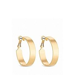 Lipsy - Gold plated gold flat edge hoop earrings
