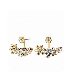 Lipsy - Enamel flower lobe earrings