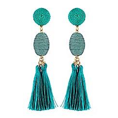 Lipsy - Turquoise tassel earrings