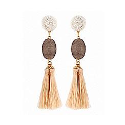 Lipsy - Cream tassel earrings