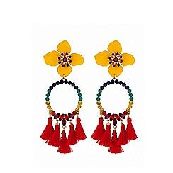 Lipsy - Frieda flower earrings