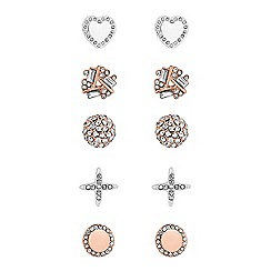 Lipsy - Pave crystal stud earrings set