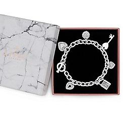 Lipsy - Multi charm gift bracelet