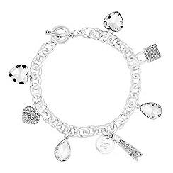 Lipsy - Pave crystal charm bracelet
