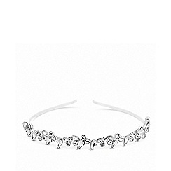 Lipsy - Silver plated clear navette headband hair