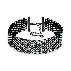 Lipsy - Rainbow crystal choker necklace