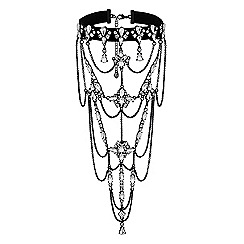 Lipsy - Statement crystal drape choker