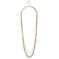 Lipsy - Crystal chain multirow long necklace