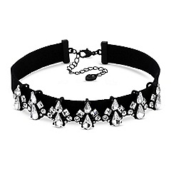 Lipsy - Crystal cluster choker necklace