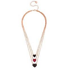 Lipsy - Multi tone heart drop necklace