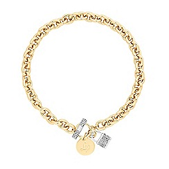 Lipsy - Pave padlock toggle necklace