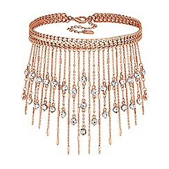 Lipsy - Crystal fringe choker necklace