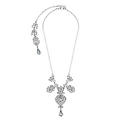 Lipsy - Crystal filigree front and back necklace