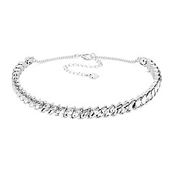 Lipsy - Navette Crystal Choker Necklace