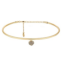 Lipsy - Gold heart charm collar necklace