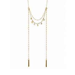 Lipsy - Gold plated clear celestial multi-row necklace