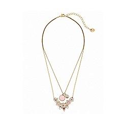 Lipsy - Enamel flower 2 row necklace