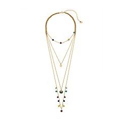 Lipsy - Bright multicolour layered necklace