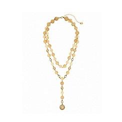 Lipsy - Gold filigree 2 row y drop necklace