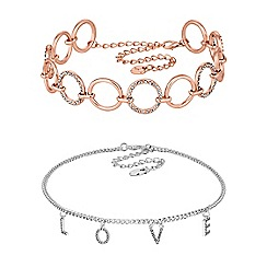 Lipsy - Crystal love choker set