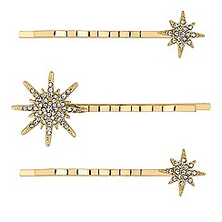 Lipsy - Celestial crystal hair slides set