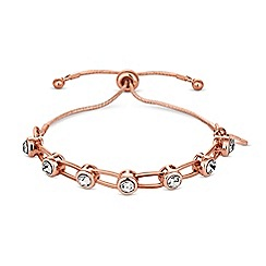 Lipsy - Crystal link toggle bracelet