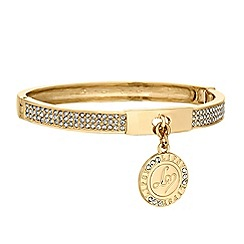 Lipsy - Crystal pave charm bangle