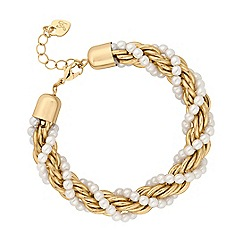 Lipsy - Pearl twist chain bracelet
