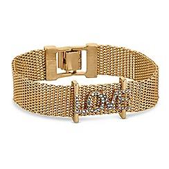 Lipsy - Crystal love bracelet