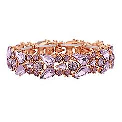 Lipsy - Pink crystal cluster bracelet
