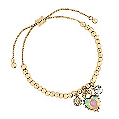 Lipsy - Heart charm toggle bracelet