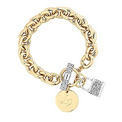 Lipsy - Pave padlock toggle bracelet