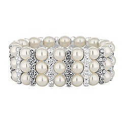 Lipsy - Pearl and crystal bar bracelet