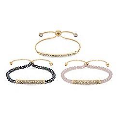 Lipsy - Beaded toggle bracelet set