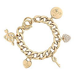 Lipsy - Gold pearl charm bracelet