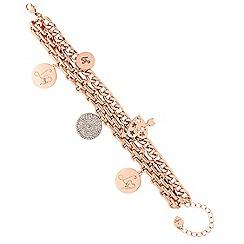 Lipsy - Rose gold lipsy disc charm bracelet